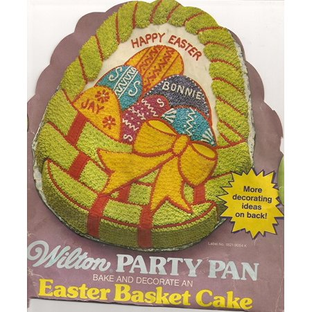 Cake Pan: Easter Basket with Eggs (502-1727, 1980), Contoured cake pan featuring an Easter Basket By - Easter Cake Pans