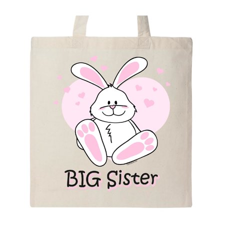 Big Sister Natural - Cute Bunny Big Sister Tote Bag Natural One Size