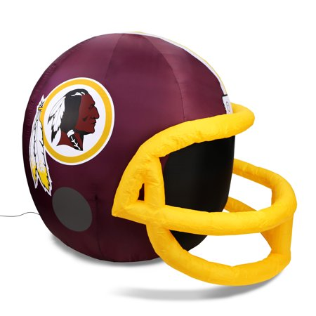 NFL Washington Redskins Team Inflatable Lawn Helmet, Red, One Size - Helmet Inflatable