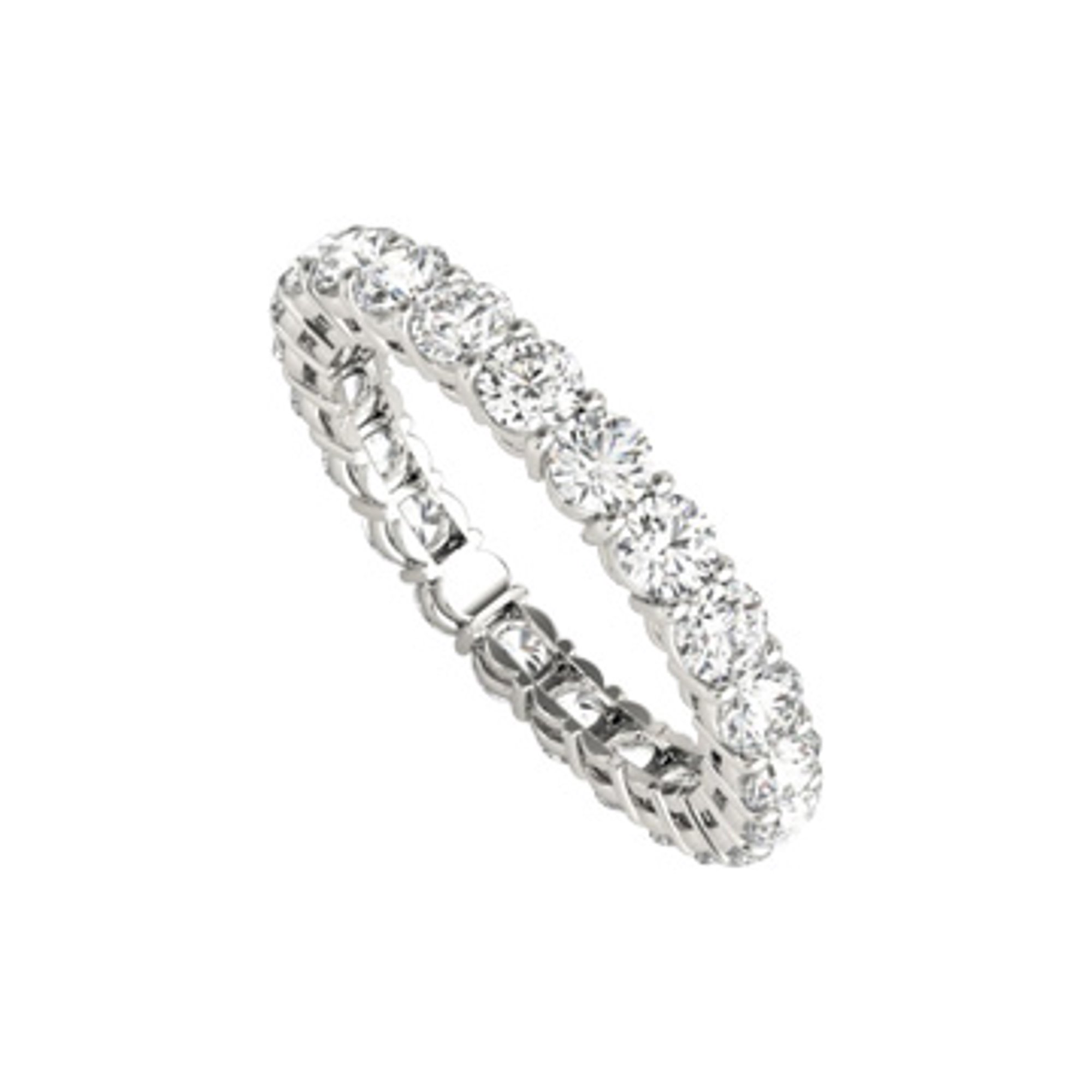 It is a photo of 44.44 Carat CZ Eternity Ring For Women in 44K White Gold