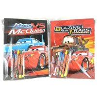 Party Favors Disney Cars Coloring Book & Crayon Set 12 Pack ( Assorted Style)