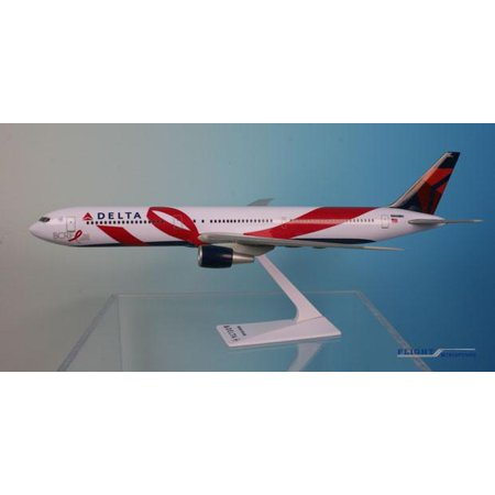 800 Delta Airlines (Flight Miniatures Delta Airlines Breast Cancer Research Boeing 767-400 1/200 Scale Model with Stand)