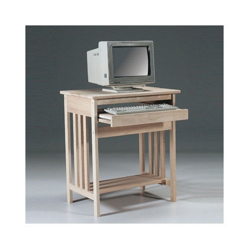 International Concepts Unfinished Wood Mission Computer Desk