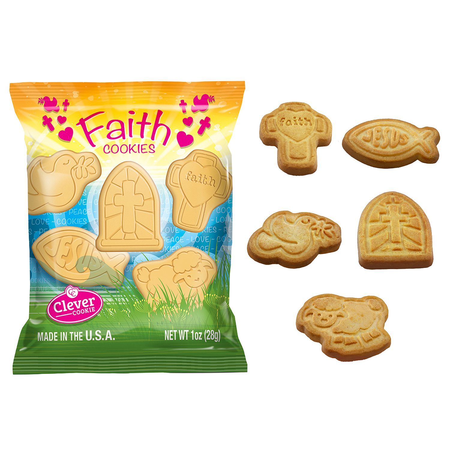 Faith Shortbread Cookie Snack Packs (1 oz., 85 ct.) by
