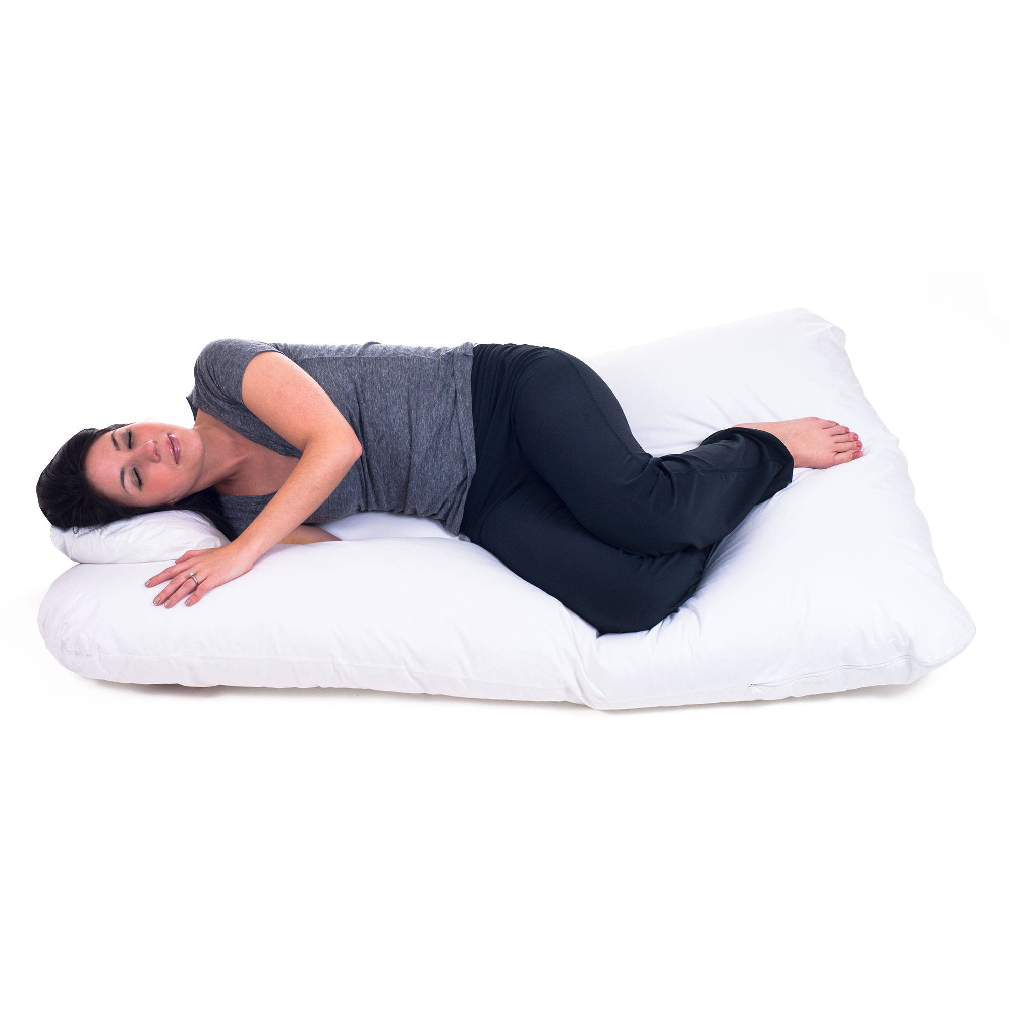 pregnancy pillow full body maternity pillow with contoured ushape by bluestone back support walmartcom