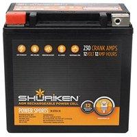 Shuriken Sk-btx14-bs 230 Crank Amps 12ah Agm Powersports 12-volt Battery