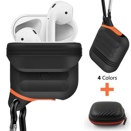 8755da12fae Moretek Apple AirPods Waterproof Shock Resistant Case Cover Hard Carrying  Case Bag (Black) - Walmart.com