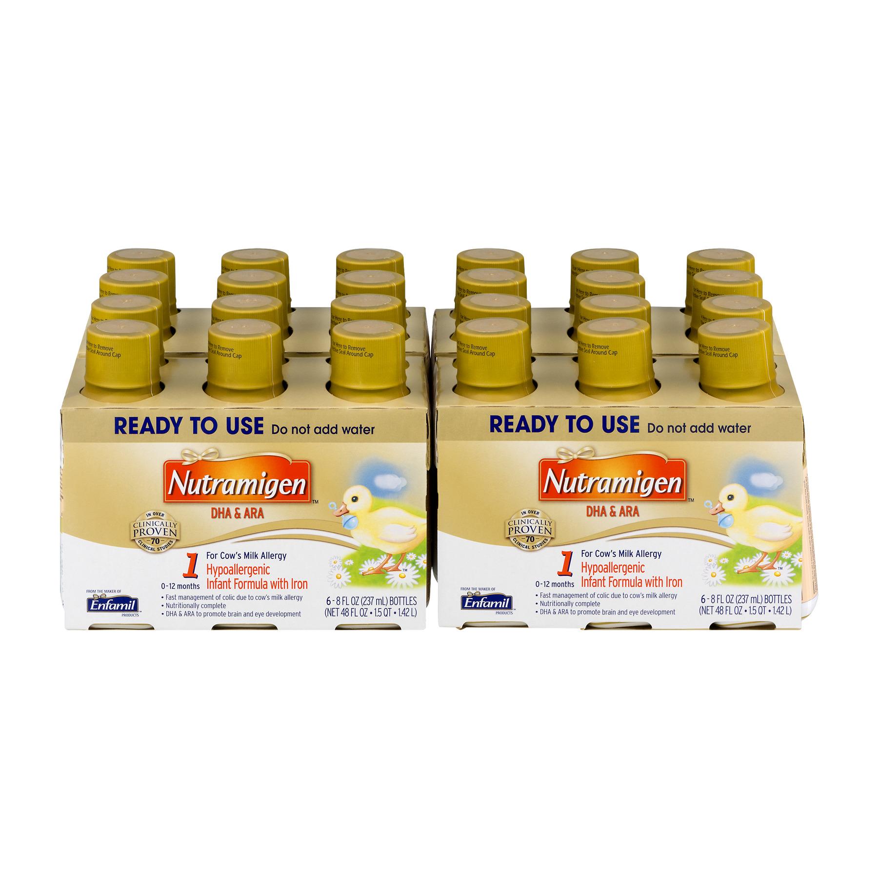 Mead Johnson & Company, LLC. Nutramigen DHA & ARA Hypoallergenic Infant Formula with Iron 0 - 12M  -  24 CT