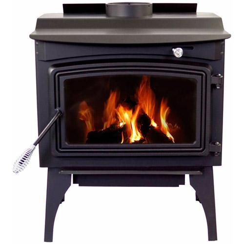 Pleasant Hearth Medium Stove, Black Steel by GHP Group Inc