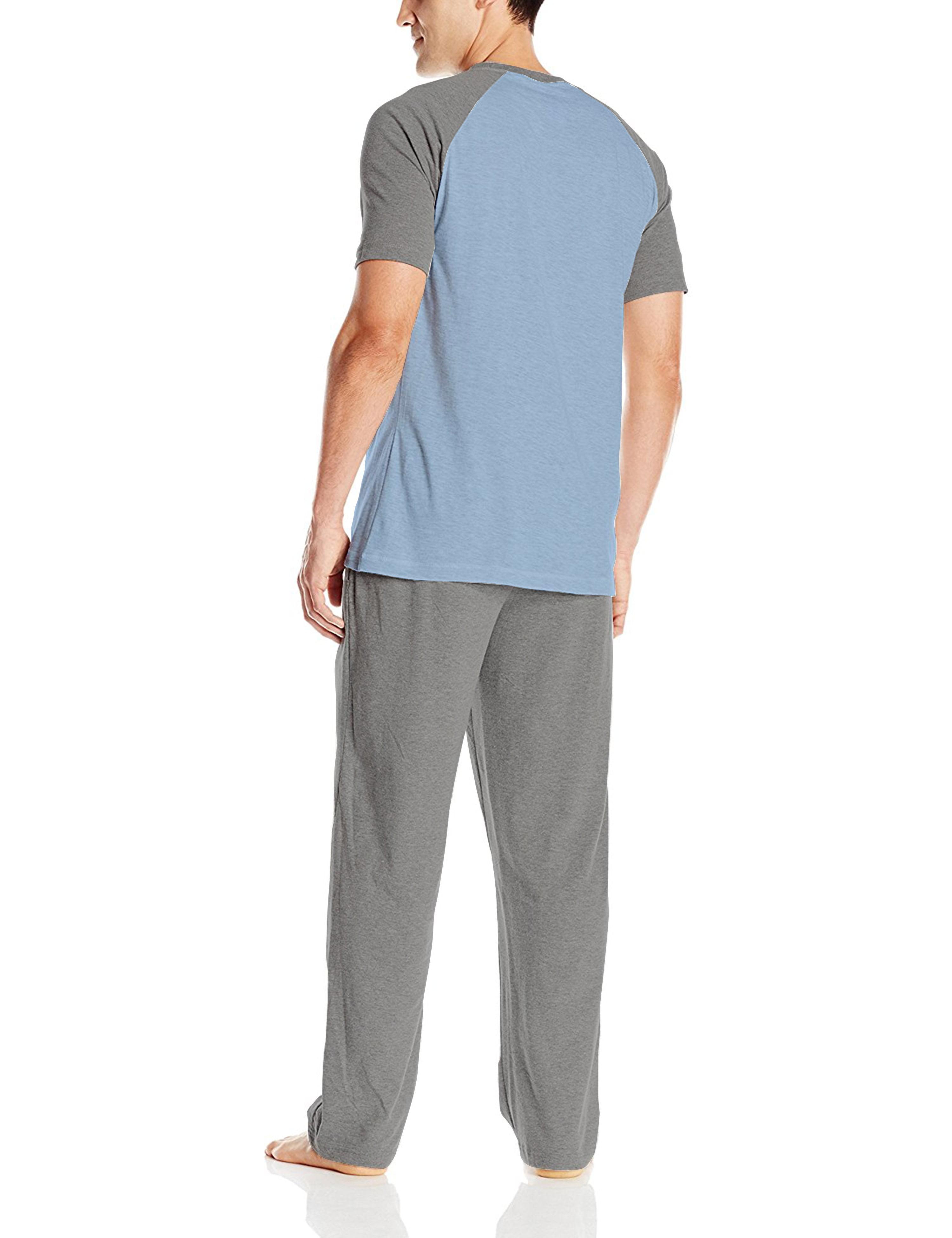 aacaac196c Hanes - Hanes Men's Adult X-Temp Short Sleeve Cotton Raglan Shirt and Pants Pajamas  Pjs Sleepwear Lounge Set - Walmart.com