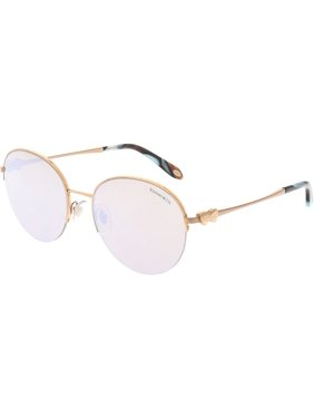 74d5b51bf54 Product Image Tiffany And Co. Women s Mirrored TF3053-610964-56 Gold  Semi-Rimless Sunglasses
