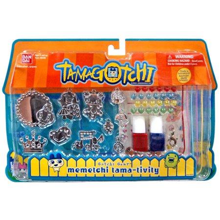 Tamagotchi Gotchi Gear Charm Bracelet Memetchi Tama Tivity Activity Set  Red   Blue Paint