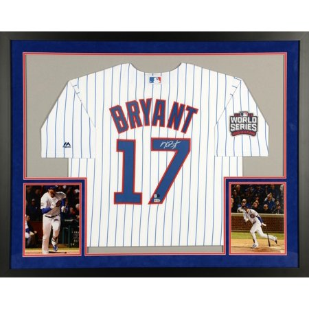 a90f6035c Kris Bryant Chicago Cubs 2016 MLB World Series Champions SM Deluxe Framed  Autographed Majestic White Replica World Series Jersey - Fanatics Authentic  ...