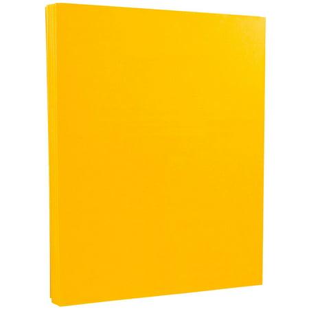 JAM Paper® Vellum Bristol Cardstock - 8.5 x 11 - 67 lb Goldenrod Orange - 50 Sheets/Pack ()
