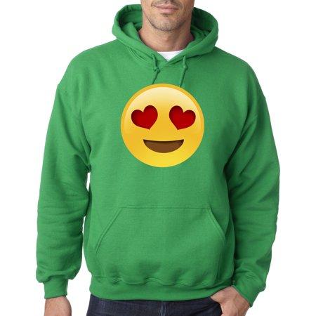 302 - Hoodie Emoji Heart Eyes Smiley Face Sweatshirt ()