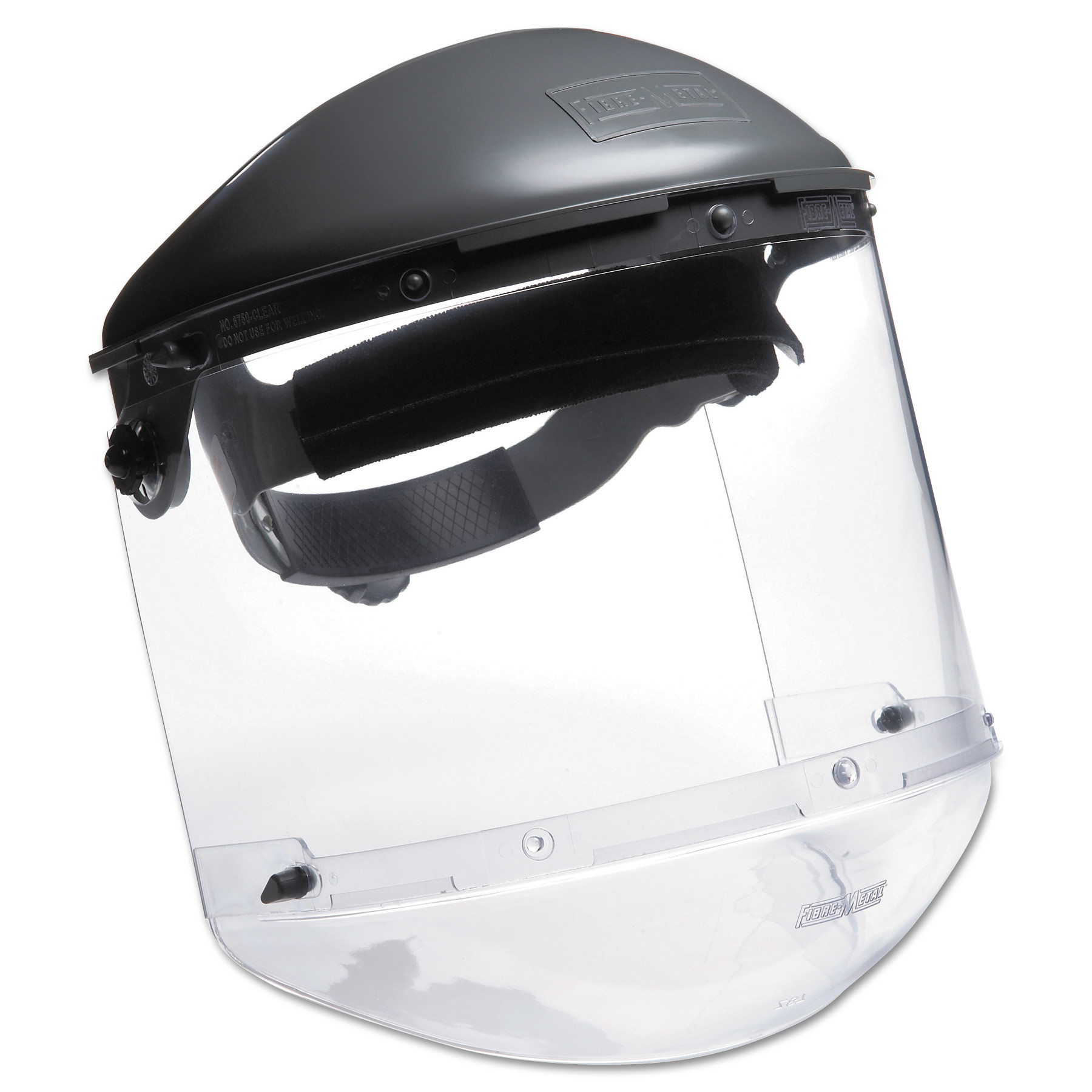 Honeywell Fibre-Metal Dual Crown Faceshield Systems, 4 in Crown, 3C Ratchet, Clear/Noryl