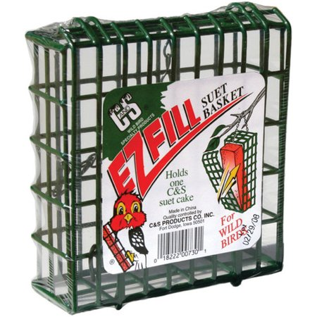 C&S EZ Fill Suet Basket, Green - Green Glass Basket