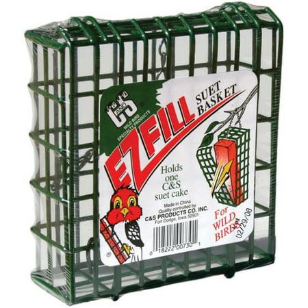 C&S EZ Fill Suet Basket, (Green Rattan Basket)