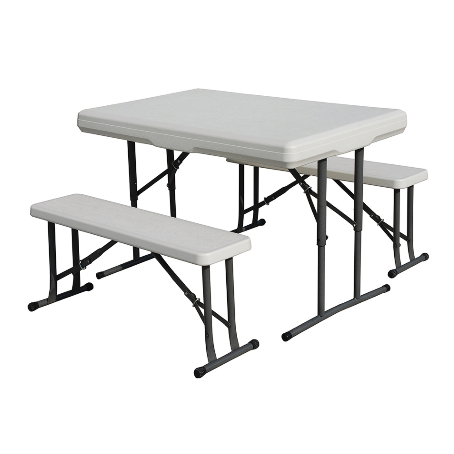 Click here to buy Stansport Camp Table with Folding Bench Seats by Generic.