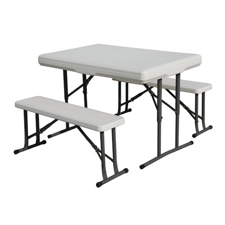 stansport camp table with folding bench seats. Black Bedroom Furniture Sets. Home Design Ideas