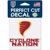 "Iowa State Cyclones WinCraft 4"" x 4"" Perfect Cut Slogan Decal - No Size"