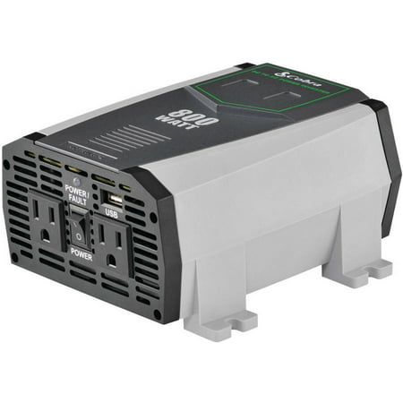 Cobra Electronics Cpi890 2.1A USB 12V DC to 120V AC 800W Power Inverter Cobra 400w Power Inverter