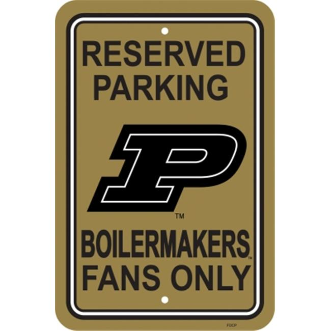 Fremont Die 50279 Purdue Boilermakers- 12 inch X 18 inch Plastic Parking Sign