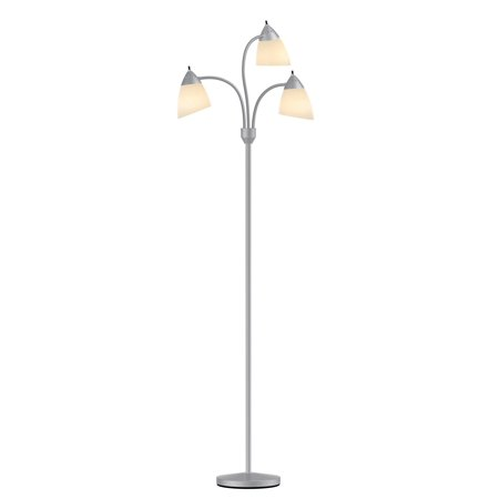 Mainstays 3 Head Floor Lamp - Grey