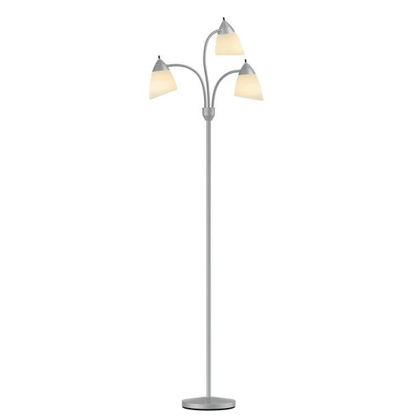Mainstays 3 Head Floor Lamp Gray Walmart Com Walmart Com