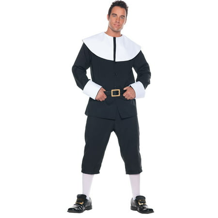 Adult Mens Pious Pilgrim Man Holiday Costume Christmas Theme Party Thanksgiving - Christmas Theme Costume