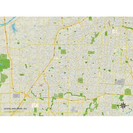 Political Map of Overland Park, KS Print Wall Art](Party City Overland Park)