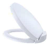 TOTO Oval SoftClose Non Slamming, Slow Close Elongated Toilet Seat and Lid, Cotton White - SS204#01