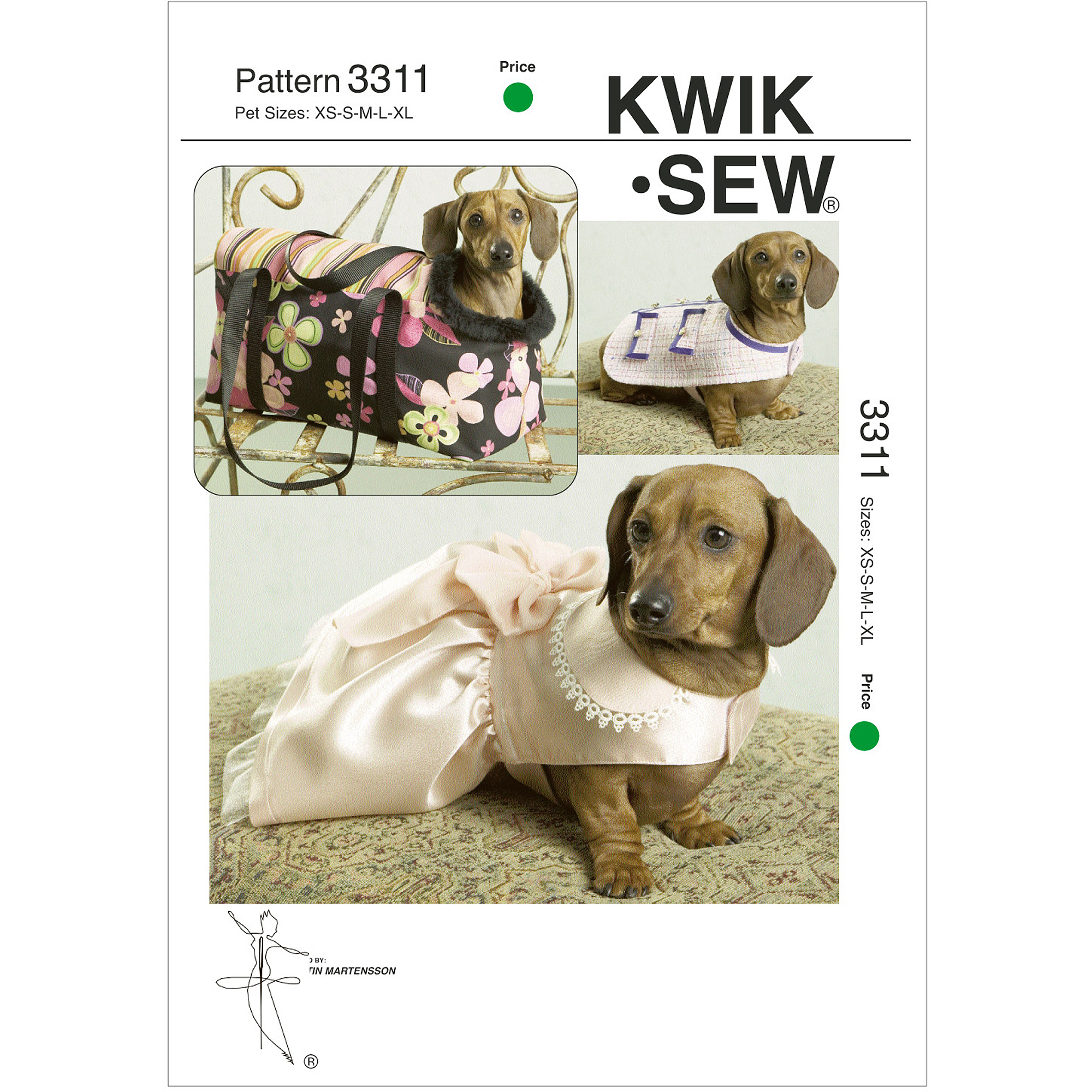 Kwik Sew Pattern Pet Jacket, Dress and Carrier, (XS, S, M, L, XL)