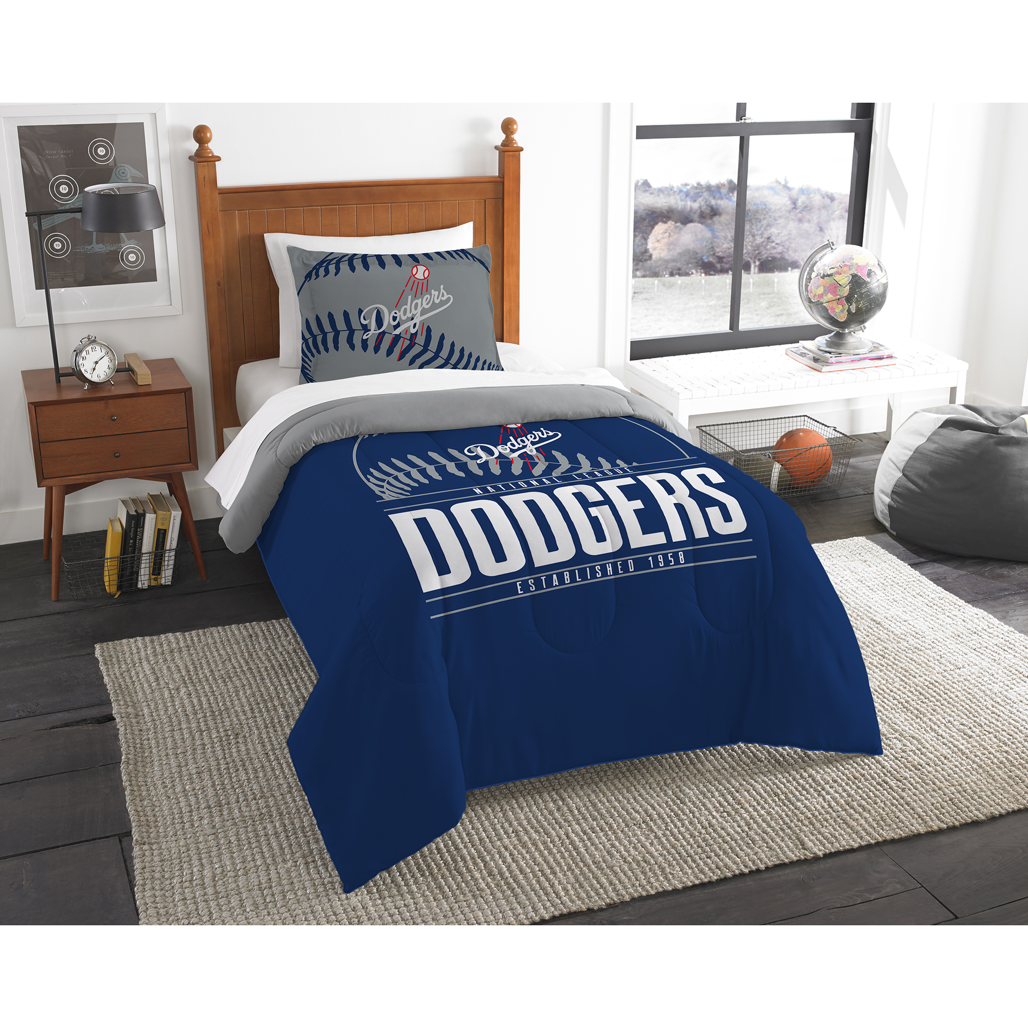 Los Angeles Dodgers The Northwest Company Grand Slam Twin Comforter Set - No Size