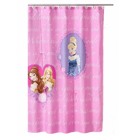 (Disney Princess Cinderella Belle Sleeping Beauty Fabric Shower Curtain Kids Bath)