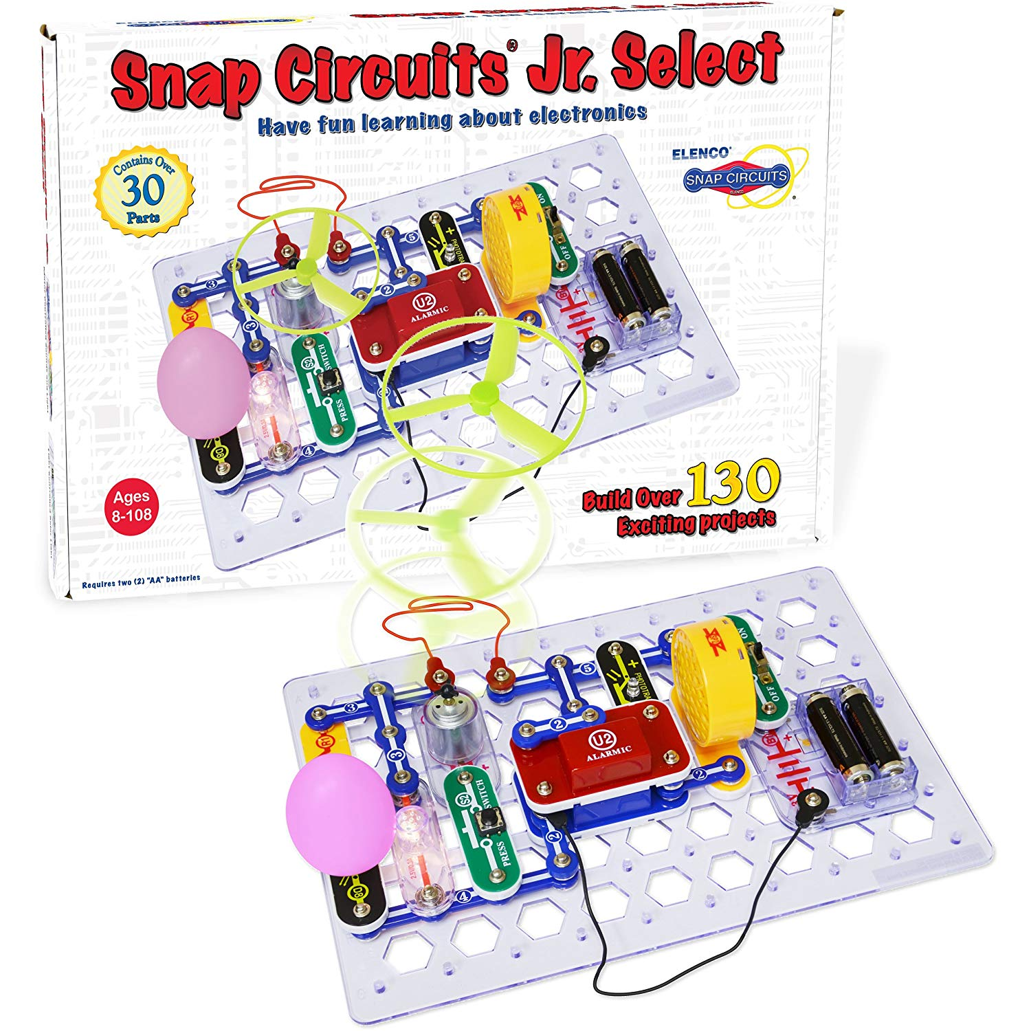 Electronics Snap Circuits Jr. Select Discovery Kit, With Snap Circuits - YOU Learn by Doing By Elenco