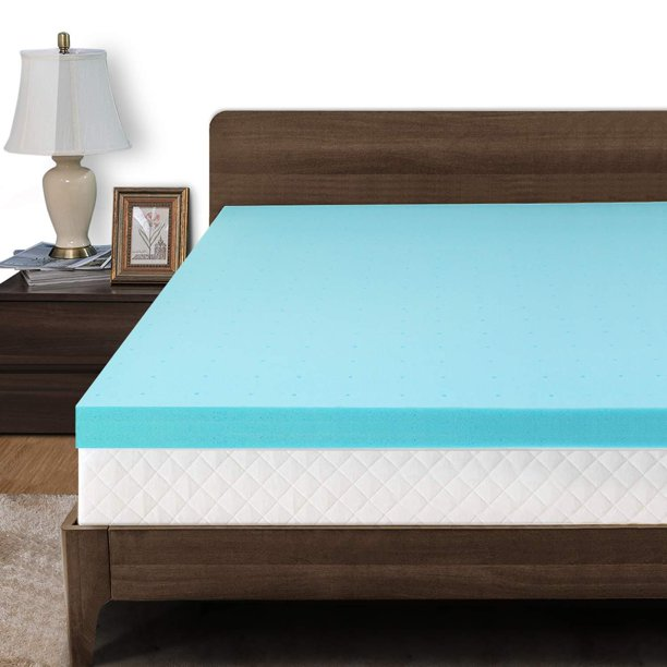 3inch Foam Mattress Topper,Memory Foam Mattress Topper Pressure Relief Ventilated Gel Bed Pad