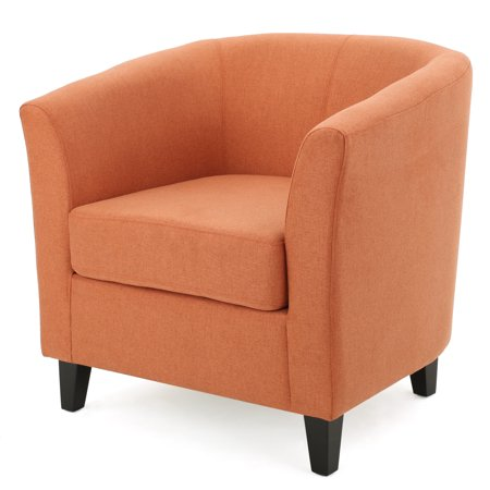 Naria Fabric Club Chair Orange