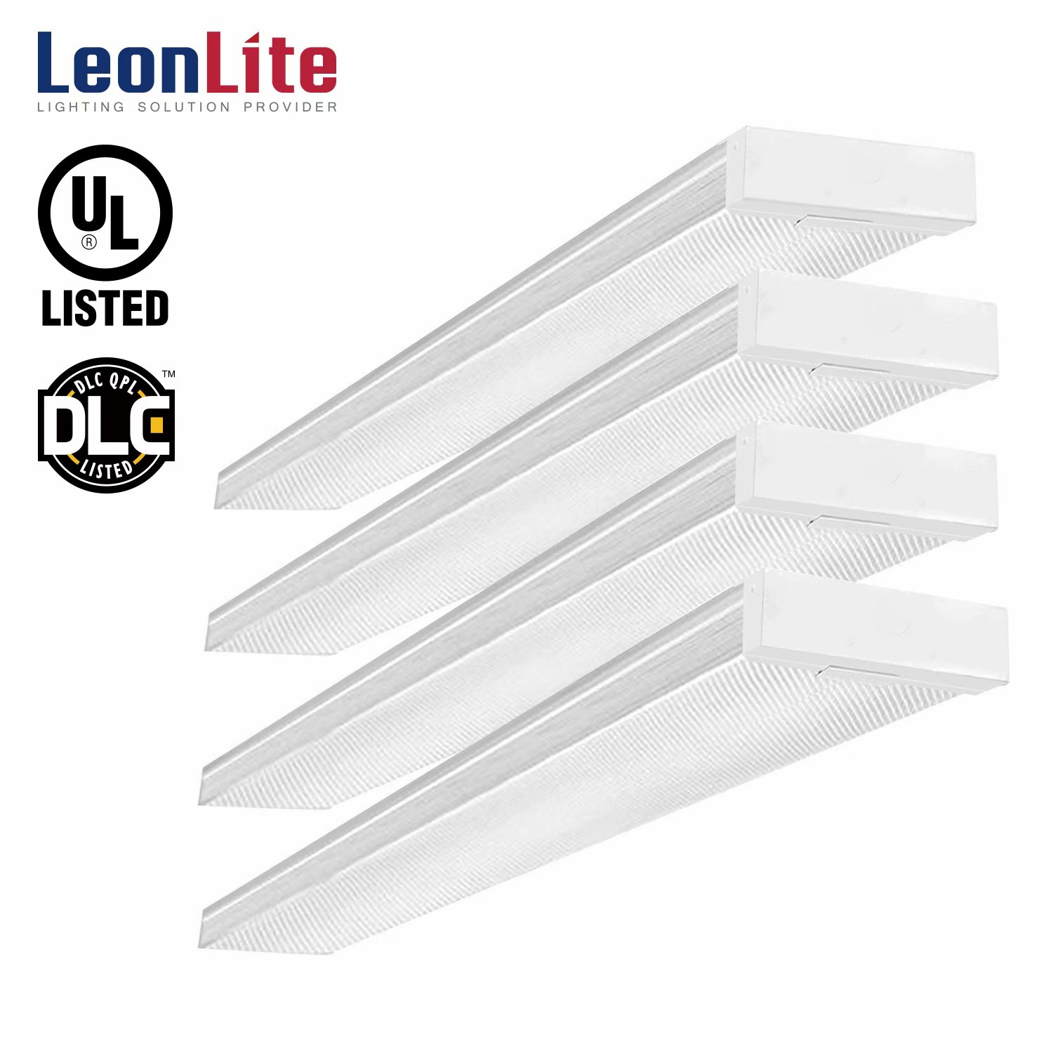 LEONLITE 4 Pack LED Shop Lights For Garage 4ft, 42W LED