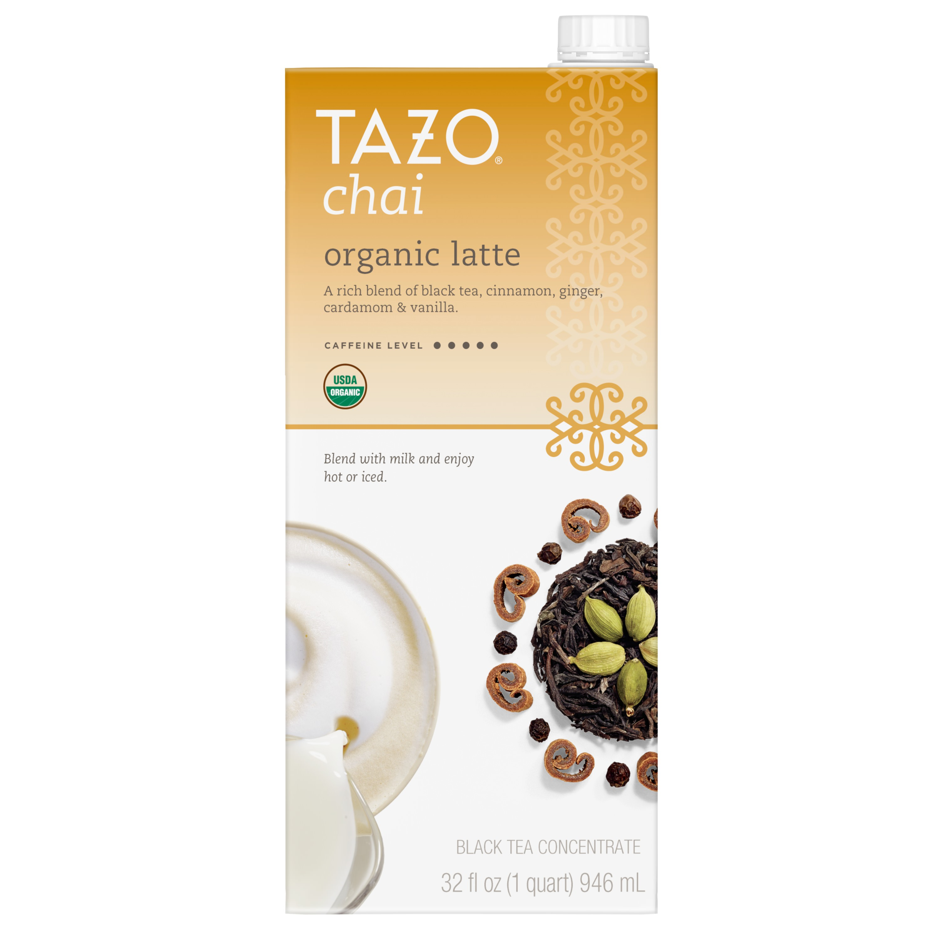 Tazo Organic Chai Latte Concentrate Black tea 32 OZ