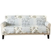 Great Bay Home Reversible Patchwork Sofa Furniture Protector, Grey