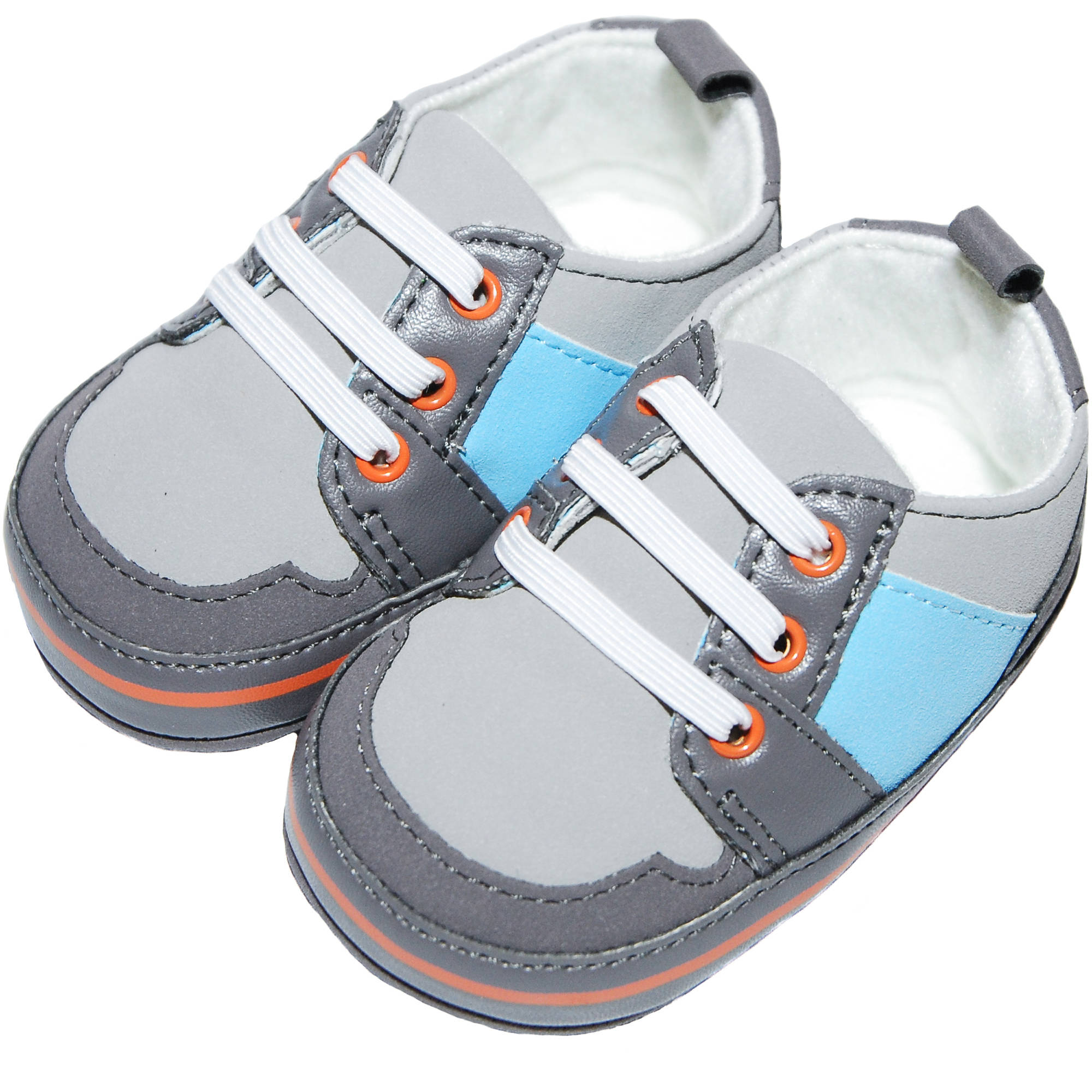 Silly Souls Newborn Baby King Blue Leather Shoes Walmart