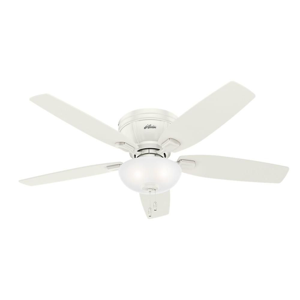 """Hunter 52"""" Kenbridge Fresh White Ceiling Fan with Light by Hunter Fan"""