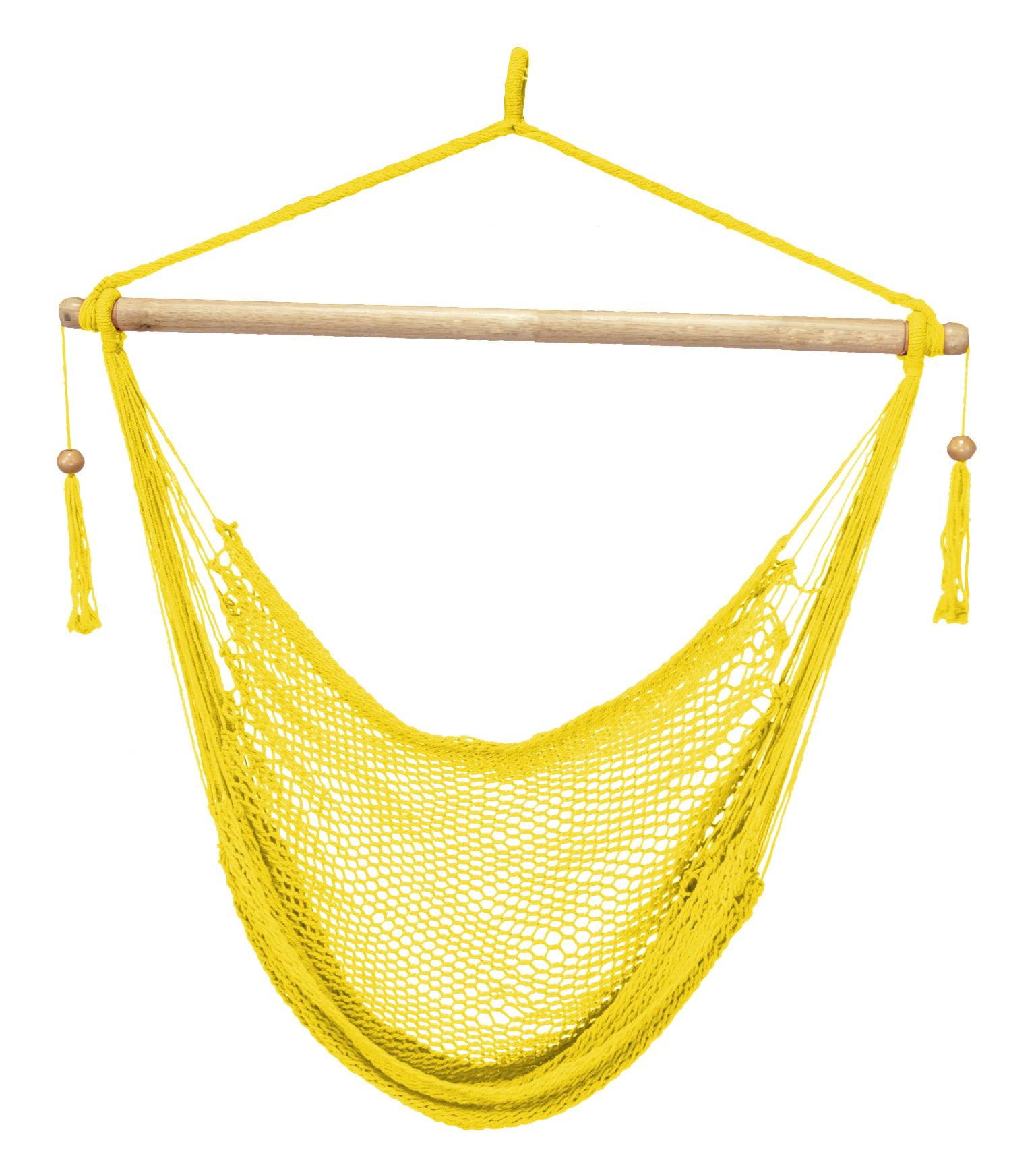 Island Paradise Rope Hammock Chair - Yellow
