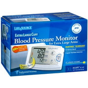 LifeSource Blood Pressure Monitor Extra Large Cuff UA-789AC 1 Each (Pack of 2)