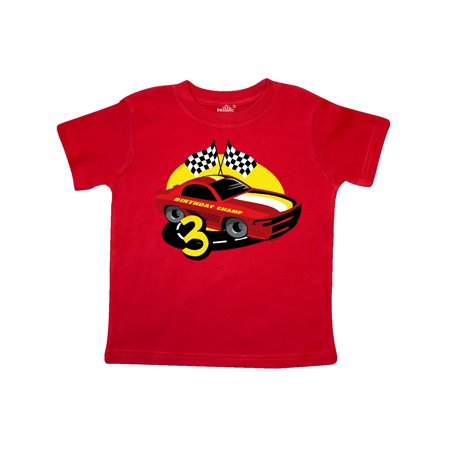 Race Car 3rd Birthday Toddler T-Shirt