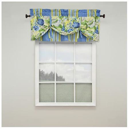 "Floral Flourish 52"" Lined Window Curtain Valance"