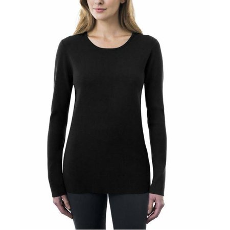 Crewneck Sweaters - Kirkland Signature Womens Crewneck Sweater (Black, Large)