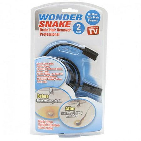 Wonder Snake Drain Hair Remover Kit as Seen on TV - 4 Kits + FREE