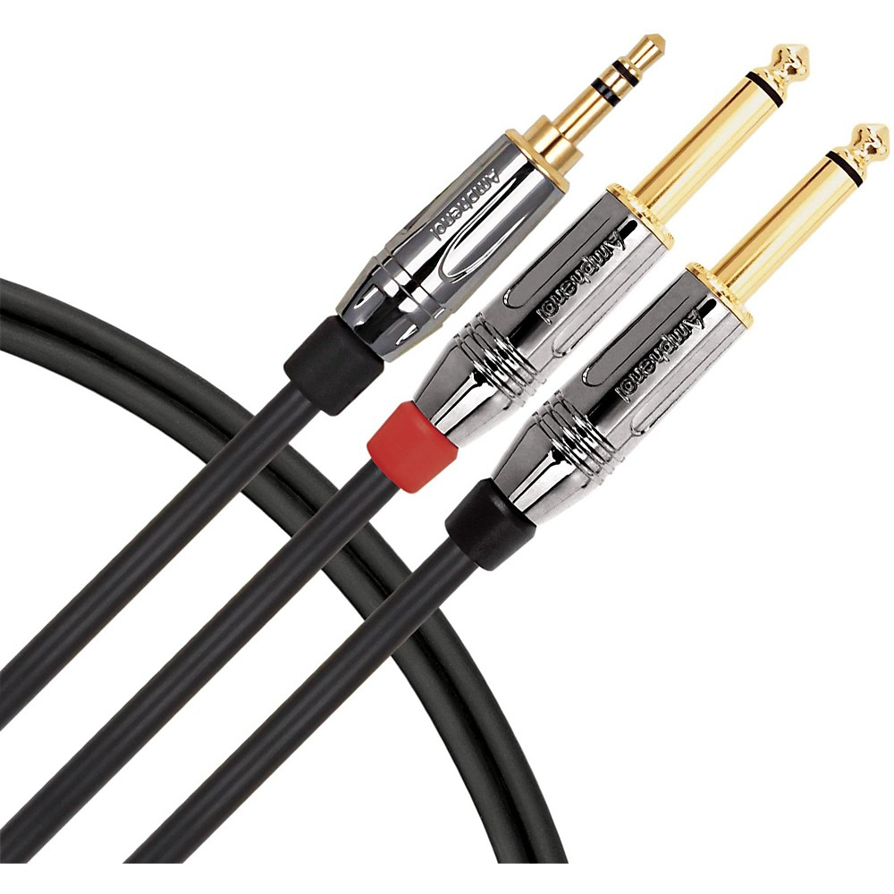 "Livewire 1/8"" TRS to Dual 1/4"" Premium Interconnect Cable 3 ft."